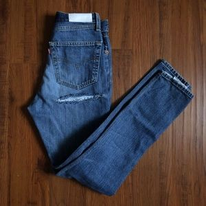 Re/Done High Waisted Ass Rip Jeans 24